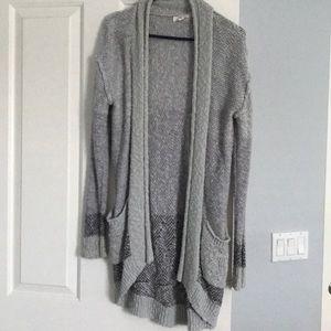 Ombré Knit Oversized Cardigan
